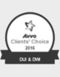 Avvo's Clients' Choice 2016 for DUI & DWI